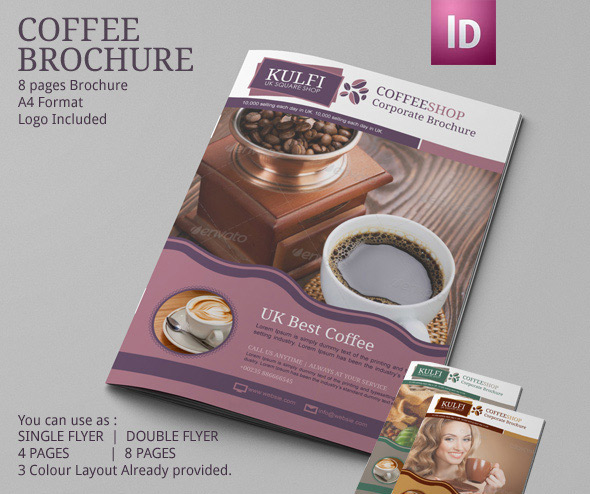 Coffee Shop Brochure Template  Modern Design On Behance