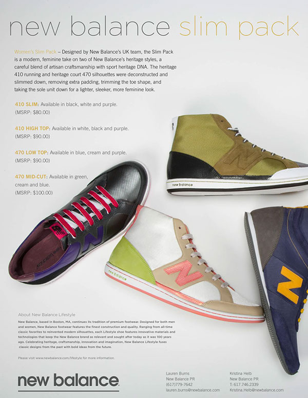 New Balance Slim Pack Press Release on