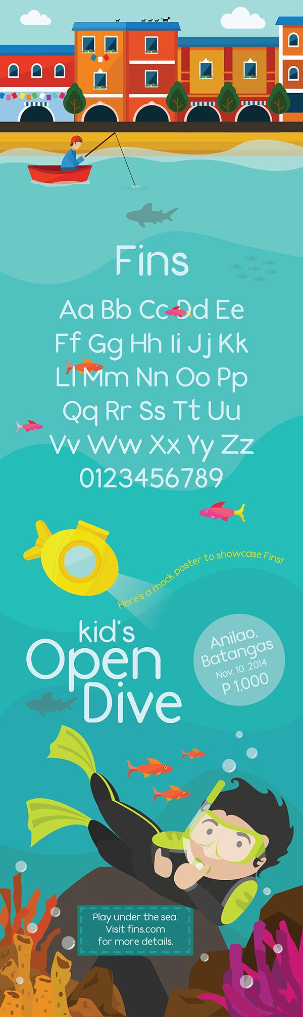 fins type fish fishy type sans serif Free font font free type face sans serif type design first font