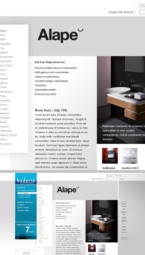 Baderie website on Behance