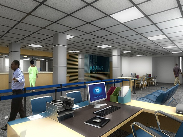 Barclays bank interior takoradi ghana on behance for Interior decoration ghana