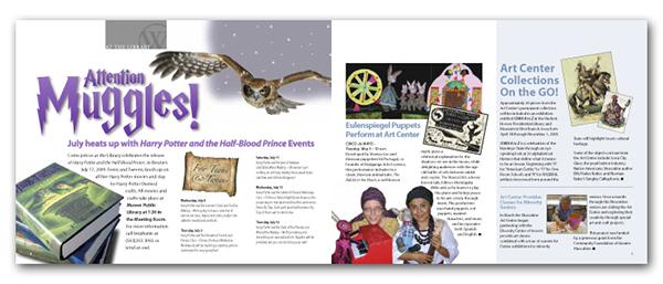 magazine Art Gallery  library muscatine newsletter