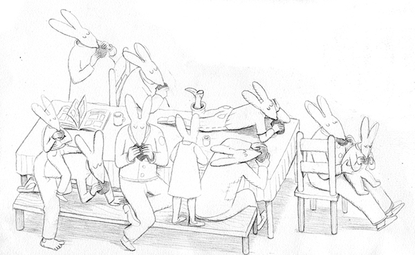 pencil rabbit