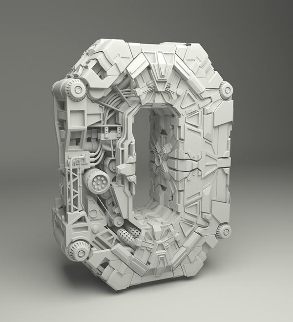 Zero as sci-fi machine by Emmanuel Tomas