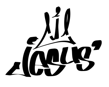 jesus logo crown Graffiti hand drawn