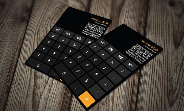Hesap Makinalı Kartvizit (iOS)