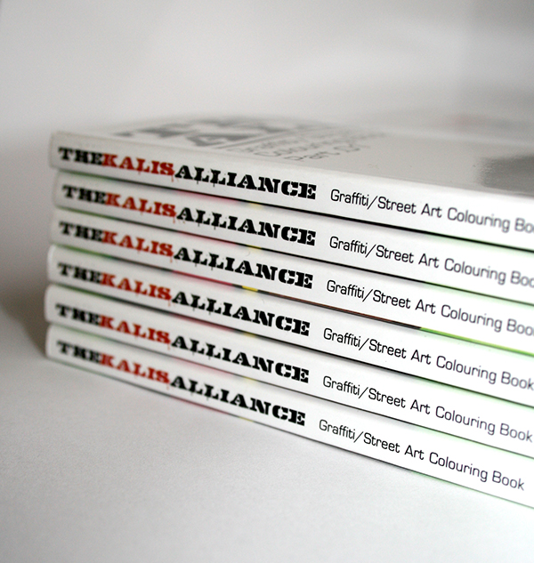 RAW INC kalis THE KALIS ALLIANCE COLOURING book Street pages