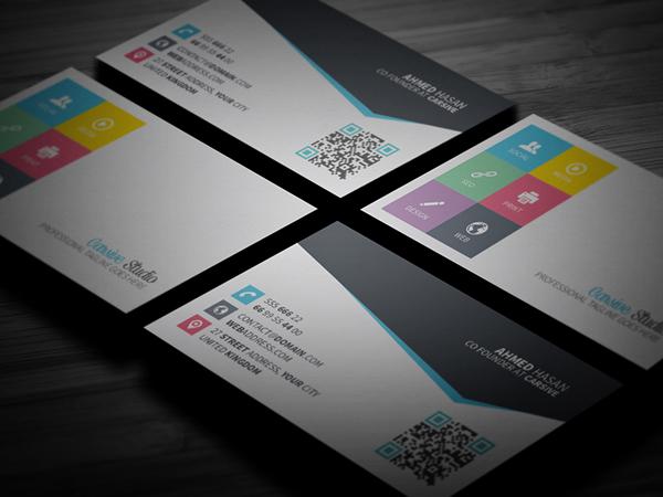 creative nice clean sleek card business template design brand