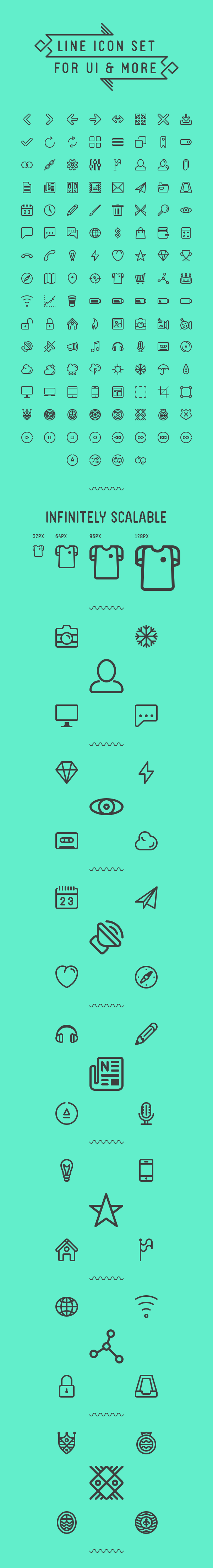 Icon iconset line icons flat user interface vector line icons free download