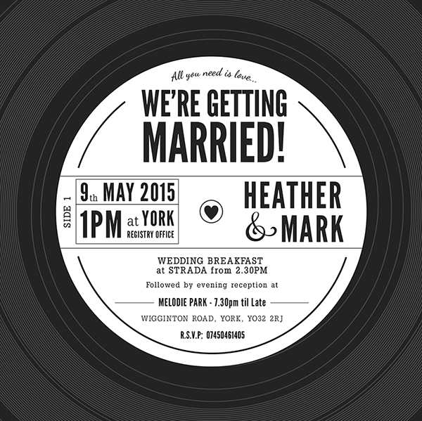 Vinyl Record Wedding Invitation on Behance