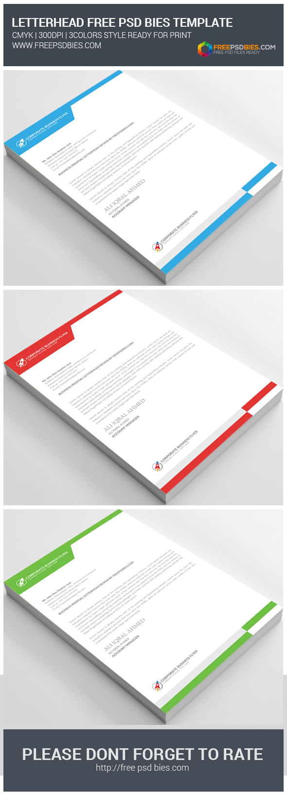 letterhead pad free psd download on behance