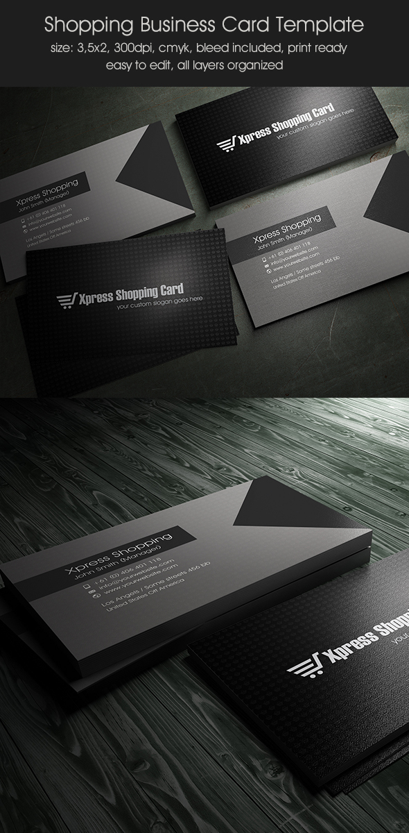 Express Business Card Template on Pantone Canvas Gallery