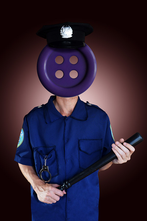 cops policia boton Fotografia Montaje