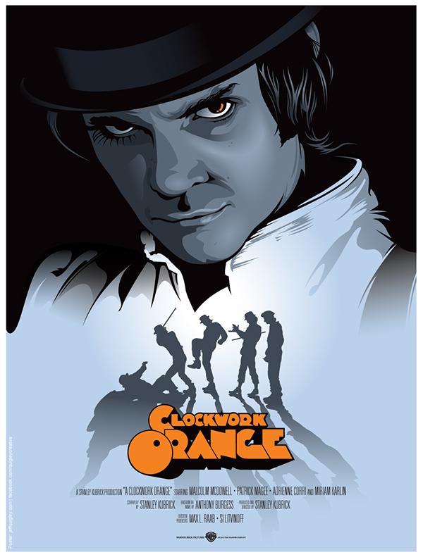 A Clockwork Orange Movie Poster on Behance A Clockwork Orange Movie Poster Original