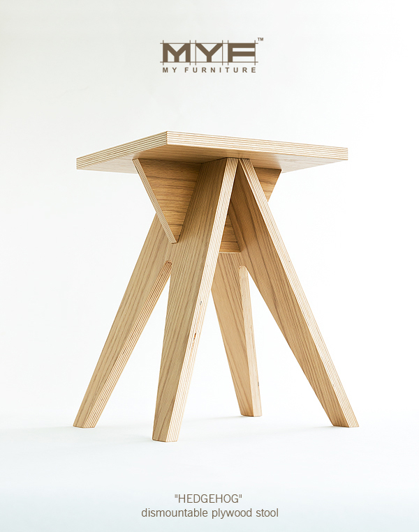 Groovy Hedgehog Dismountable Plywood Stool On Behance Caraccident5 Cool Chair Designs And Ideas Caraccident5Info