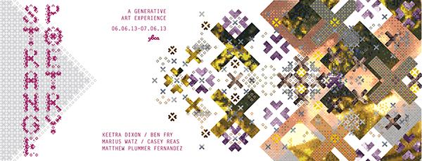 generative art ybca Exhibition  Dextro  Marius Watz Keetra Dixon Casey Reas Ben Fry Matthew Plummer Fernandez Hypothetical san francisco California systems pattern