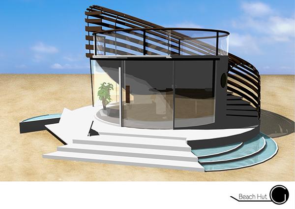 Modern beach hut design on behance for Beach hut designs interior