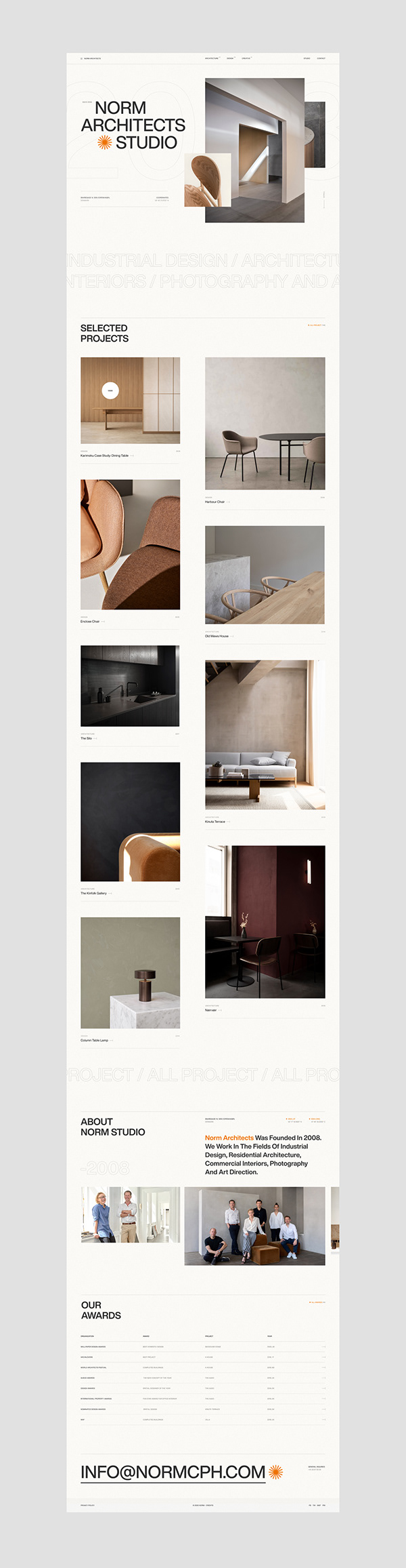 Norm Architects — web, brand