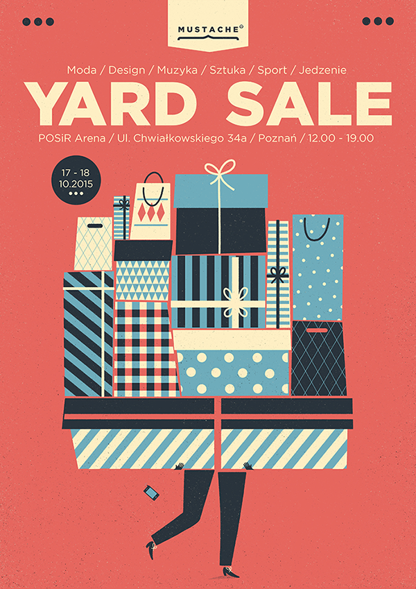 a selection of yard sale posters | 2015 on Behance