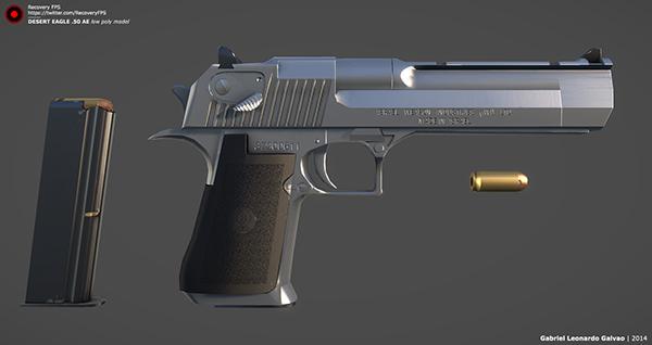 Desert Eagle  50 AE | Recovery FPS | 3D Model on Behance