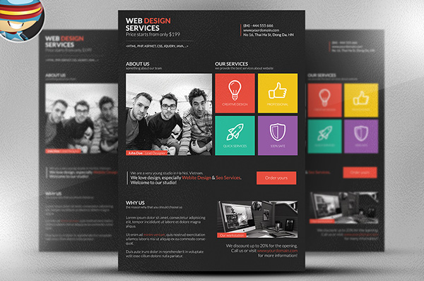 Metro Style Web Designer Flyer Template Is A Fully Editable Photoshop PSD.  Once You Have Downloaded This Template, Using Adobe Photoshop CS4+ You Can  Make ...