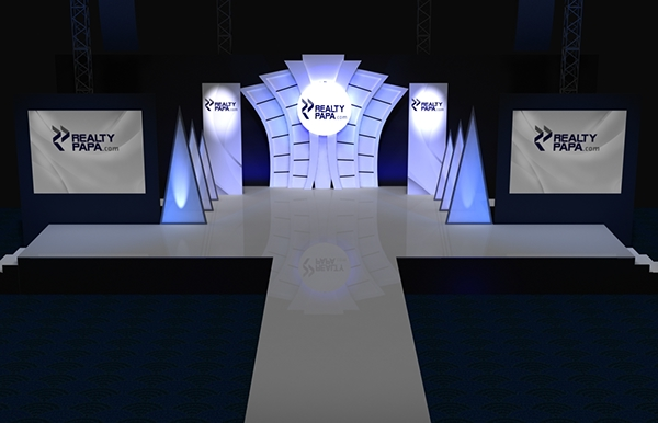 Fashion show stage design realty launch on behance - Fashion show stage design architecture plans ...