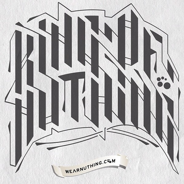 nuthing nuthing clothing co. skateboarding apparel Clothing skulls hand-drawn stickers sci-fi tattoos Custom Lettering geometry circles dimension beach