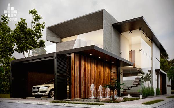 R r on behance for Construcciones de casas modernas