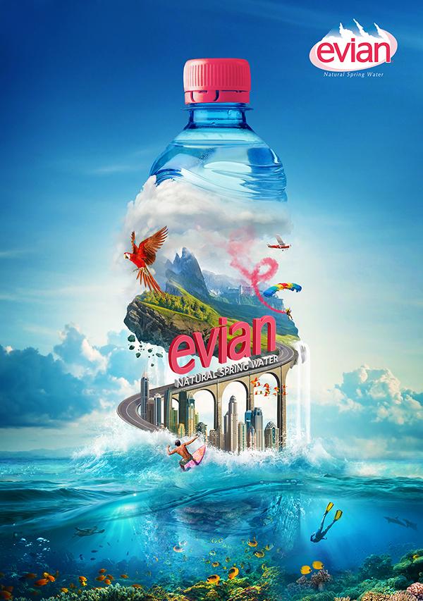 Evian on Behance