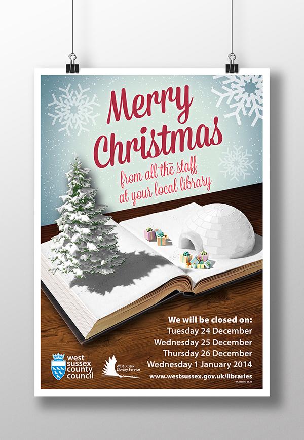 有創意感的23款聖誕節海報欣賞