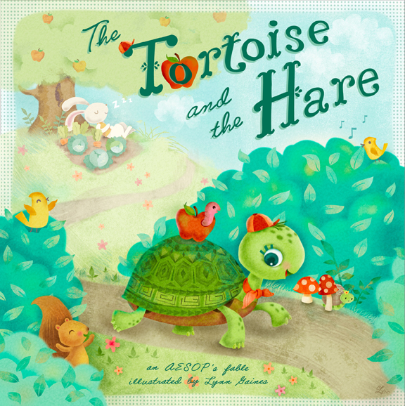 Kids book cover the tortoise and the hare on behance for Children s fish book