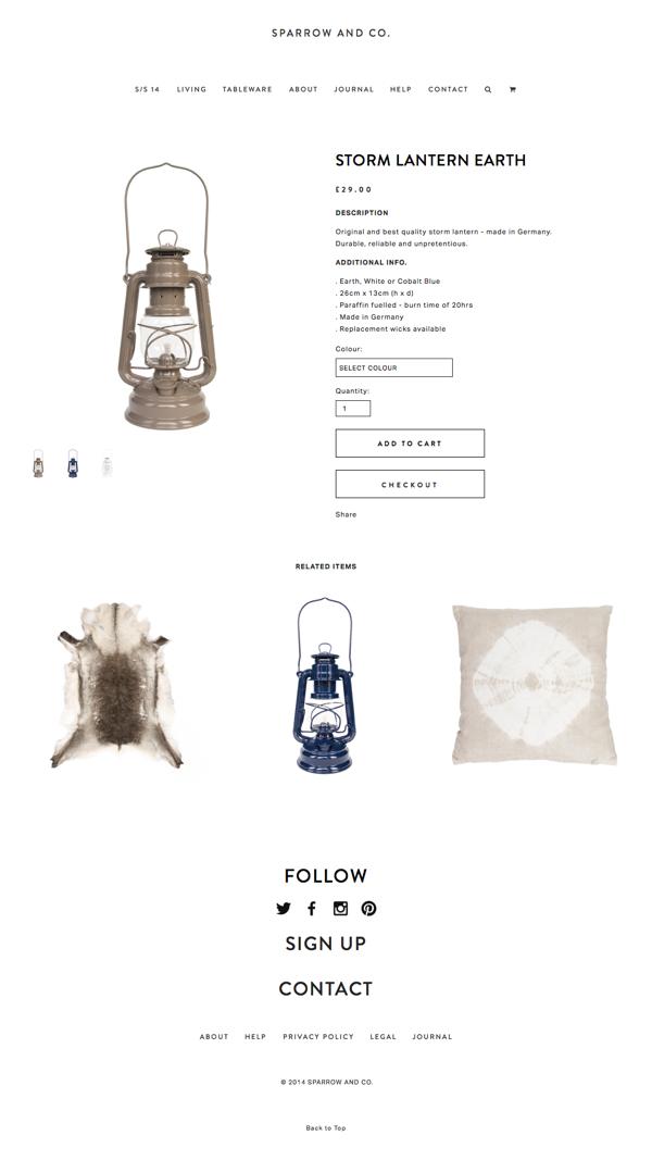 Sparrow & Co Website Squarespace 7 design handmade craft homewares The Printer's Son
