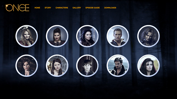 OUaT  abc  fantasy fairytales  web  web design  once  upon  a time  website  evil queen  snow white  hook  rumpelstilskin charming