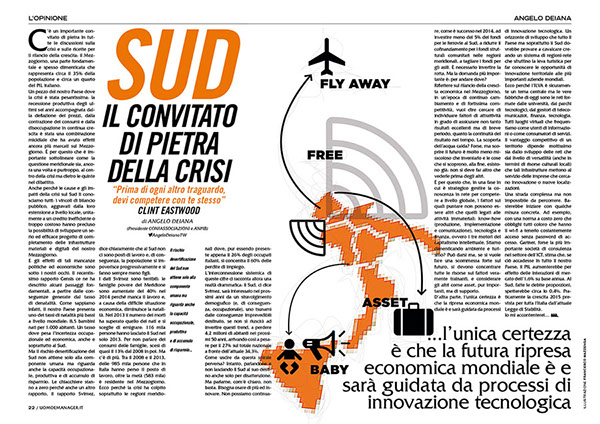 Uomo&Magazine illustrazioni Angelo Deiana social wifi sud