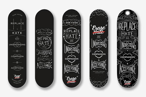 Erase Hate Skate Deck On Corcoran Portfolios