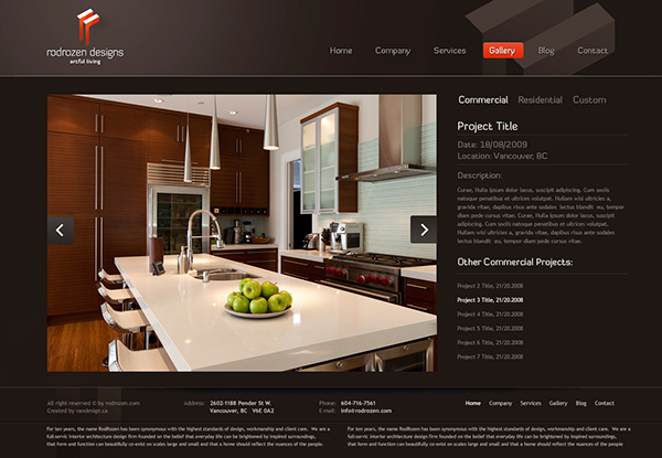 Interior Design Company Website On Behance