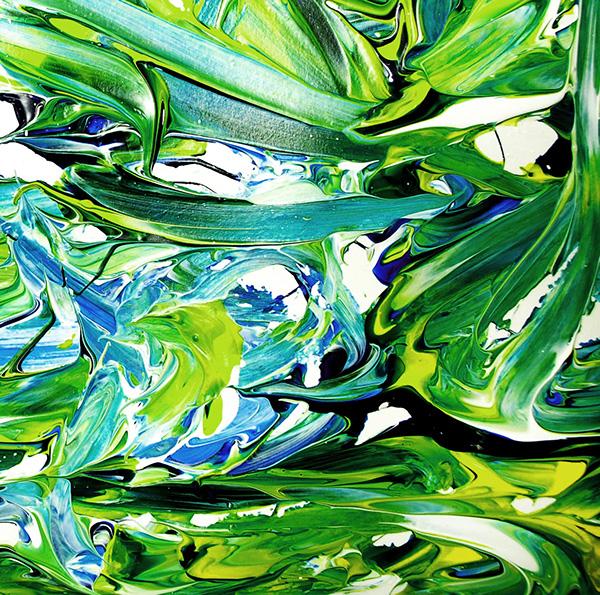 peinture acrylique Couleur pollock