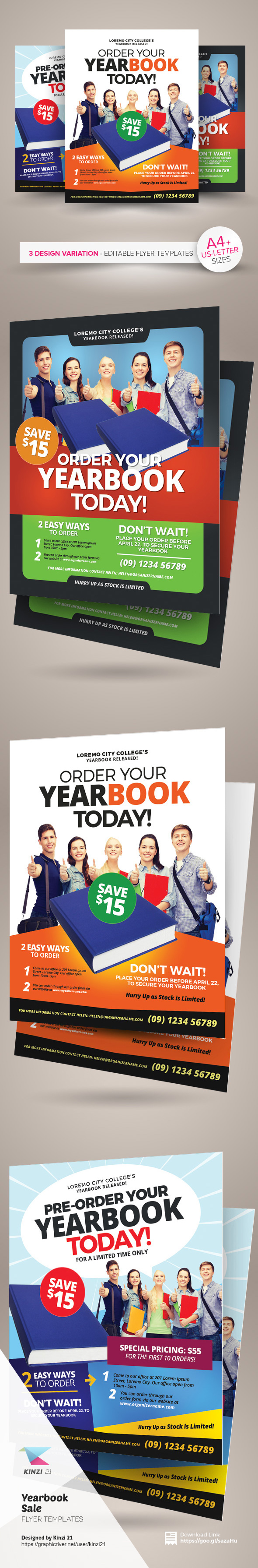 yearbook flyer templates on behance yearbook flyer templates are fully editable design templates created for on graphic river more info of the templates and how to get the