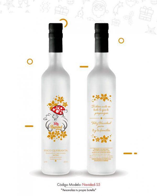 Detalles personalizados feliz navidad piscos personalizados regalos personalizados