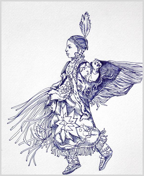 Fancy Dancer Drawing Fancy Dance Featuring