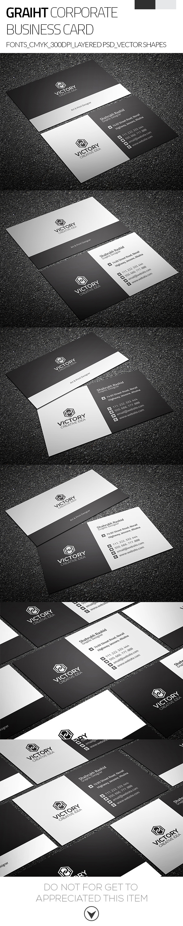 Download i graiht corporate business card free on behance reheart