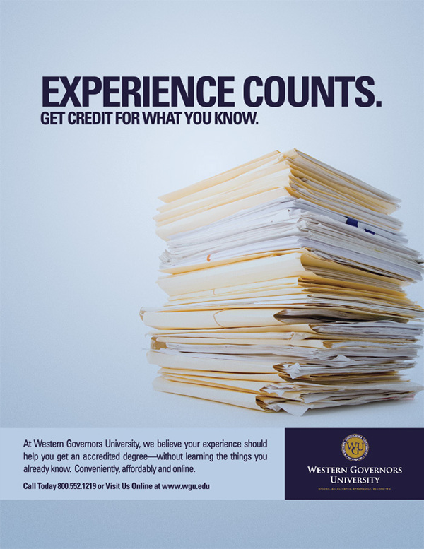 WGU / Experience Counts on Behance
