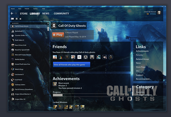 How to enable and optimize the new Steam Library user ... |Steam User Interface