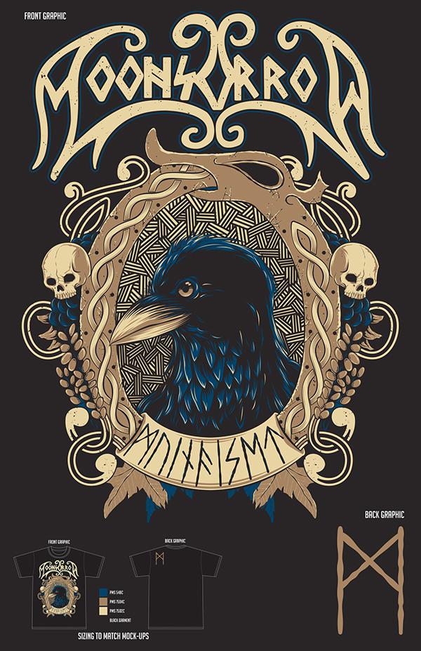 Moonsorrow Muinaiset T-Shirt Design by Chris Honeywell