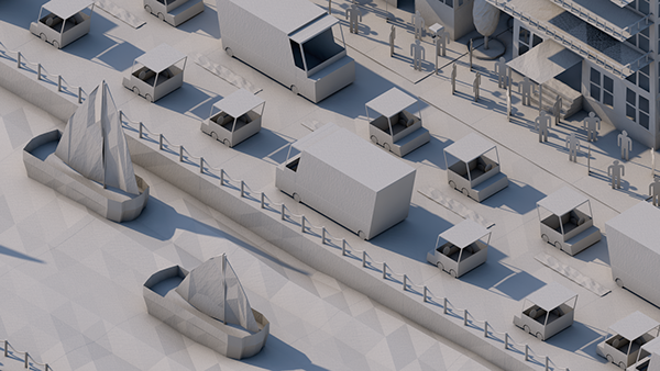 Paper City - Low Poly on Behance