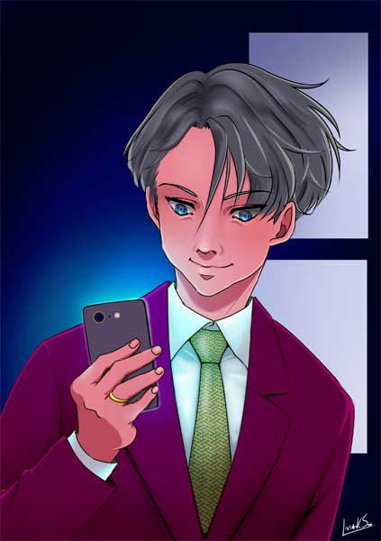 anime_style animestyle digitalart digitalfanart yuri_on_ice yurionice