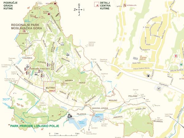 map tourist map Kutina map