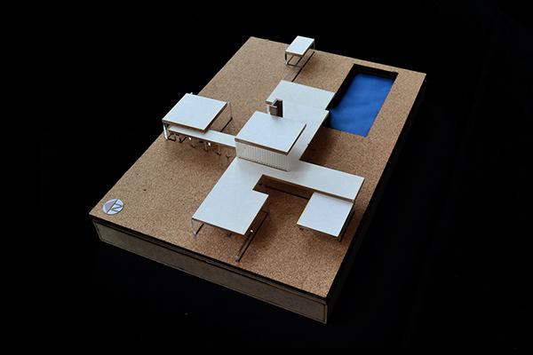 Cf arq moderna maqueta casa kaufmann 201510 on los andes for Casa moderna maqueta