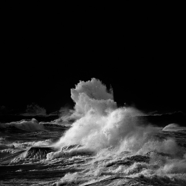 Stormy Weather black & white waves Surf darkness wind cold seascape