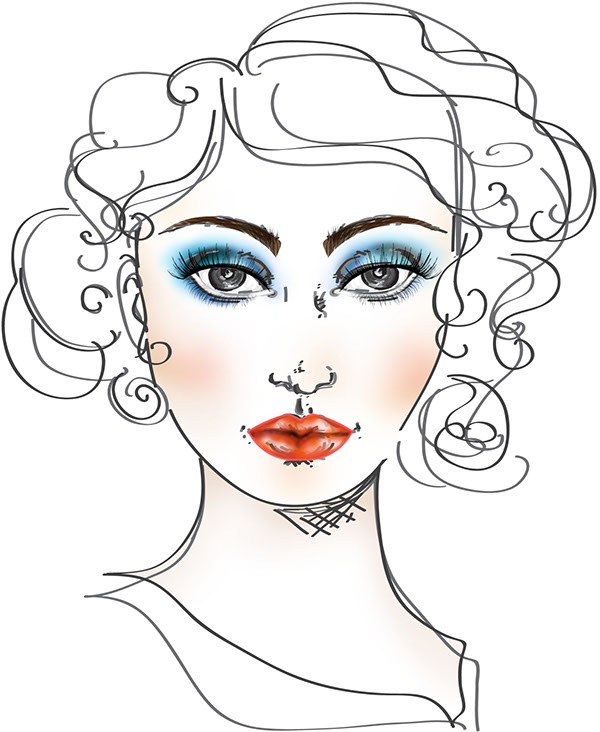Face Charts With Different Decades Of Make Up On Behance